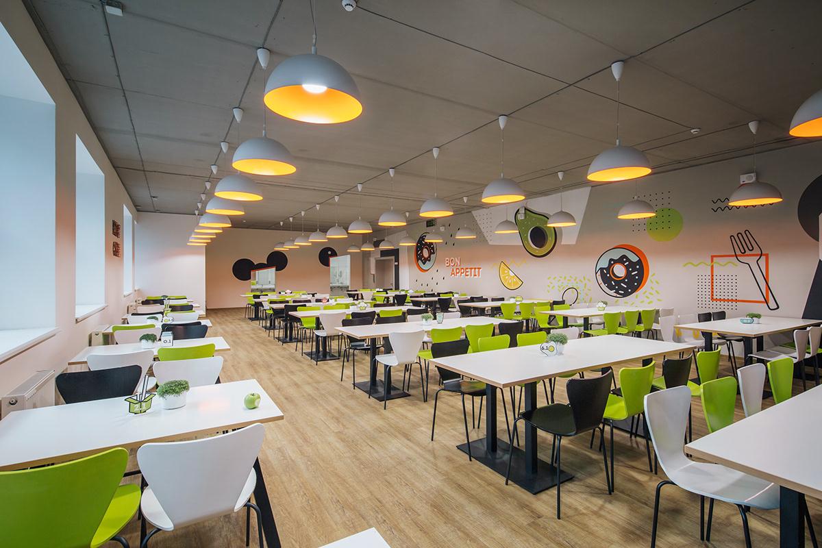学校食堂设计能提高就餐环境,帮助学生们好好学习好好吃饭